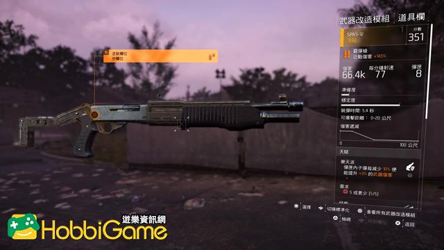 The Division 2 霰彈槍(Shotguns)